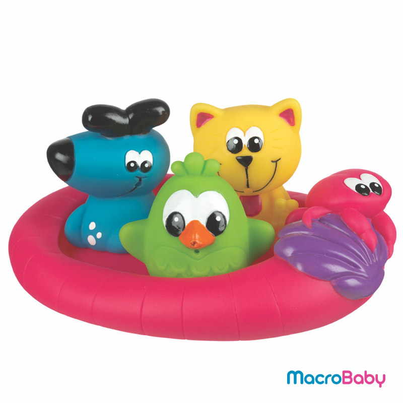 Floating friends bath fun and storage set Playgro - MacroBaby