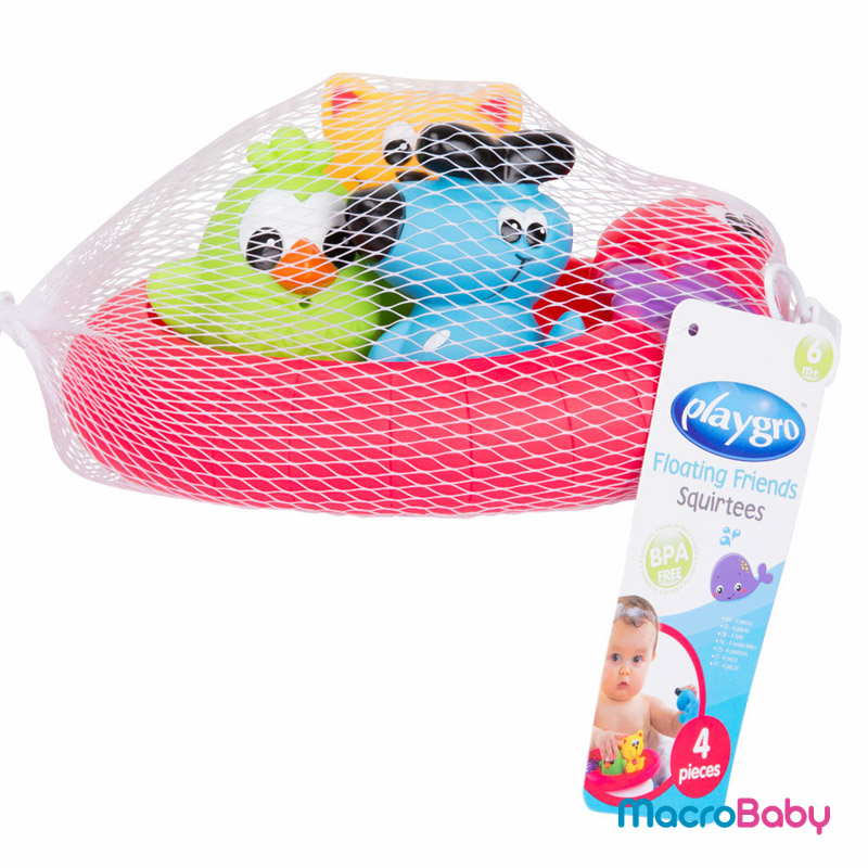 Floating friends bath fun and storage set Playgro - MacroBaby
