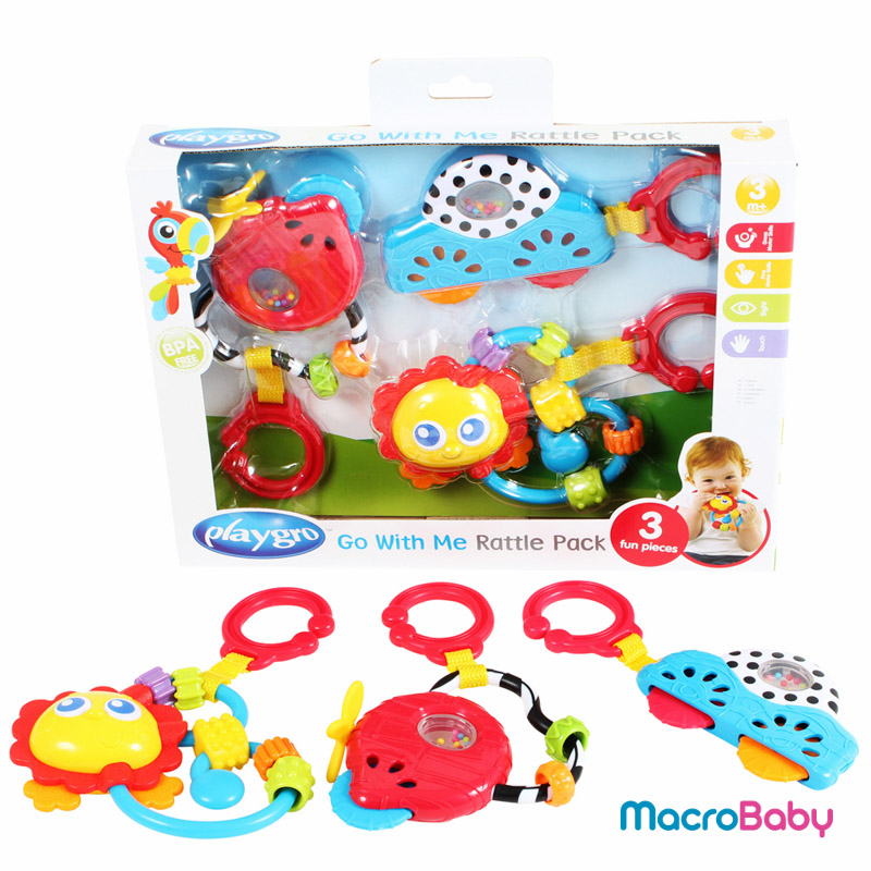 Go With Me Rattle Pack Playgro - MacroBaby