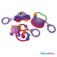 Go With Me Rattle Pack (pink) Playgro - MacroBaby