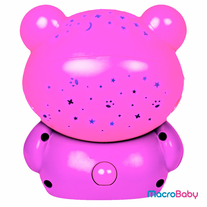 Goodnight Bear Night Light and Projector Pink Playgro - MacroBaby