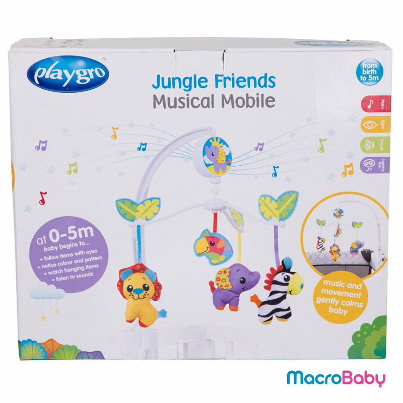 Jungle Friends Musical Mobile Playgro - MacroBaby