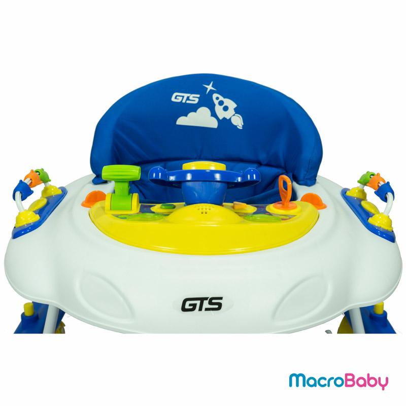 Andador de Lujo con sonido y juegos azul GTS - MacroBaby