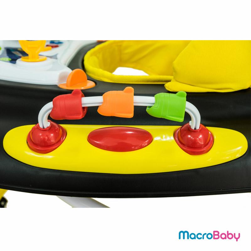 Andador de Lujo con sonido y juegos amarillo GTS - MacroBaby