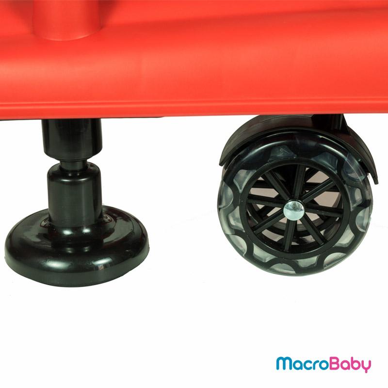 Andador de Lujo con sonido y juegos rojo GTS - MacroBaby