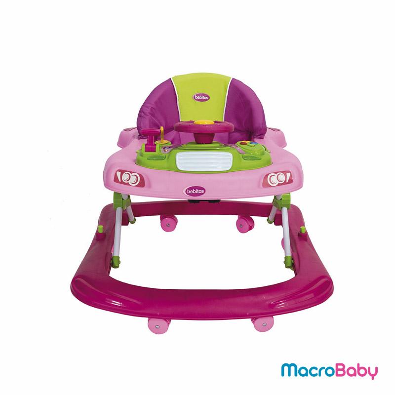 Andador para bebés rosa Bebitos - MacroBaby