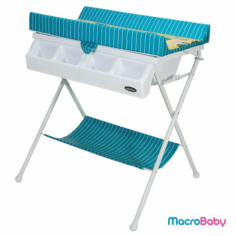 Catre de baño azul con rayas Bebitos - Macrobaby