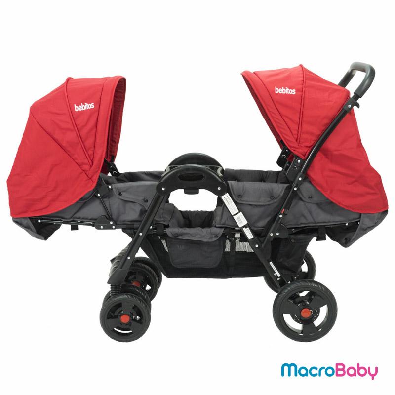 Cochecito mellizos Twins rojo Bebitos - MacroBaby