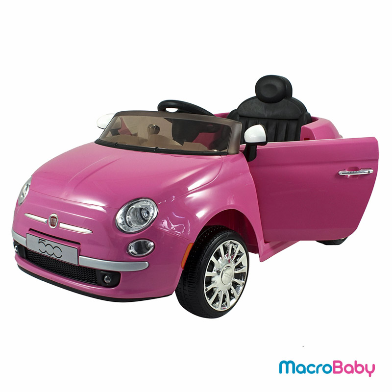 Auto a batería FIAT 500 rosa Bebitos - MacroBaby