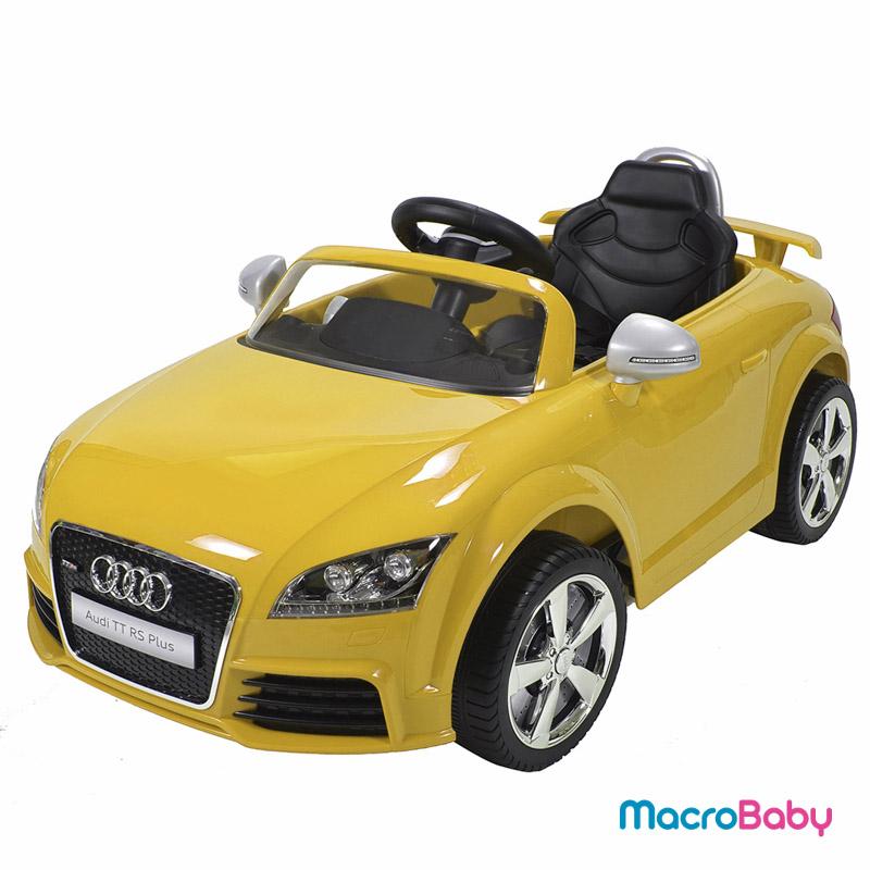 Auto a batería AUDI TT RS8 amarillo Bebitos - MacroBaby