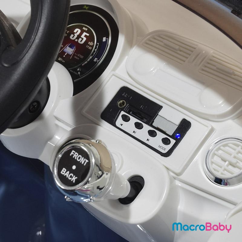 Auto a batería FIAT 500 celeste Bebitos - MacroBaby