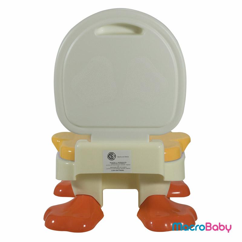 Pelela pato 3 en 1 color naranja Bebitos - MacroBaby