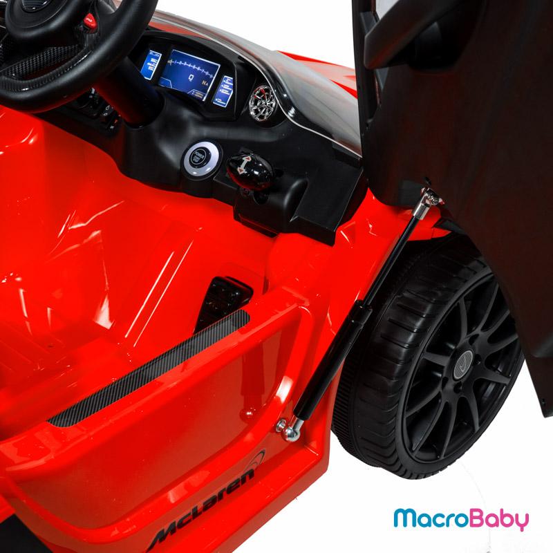Auto a batería Mc Laren MP1 rojo Bebitos - MacroBaby