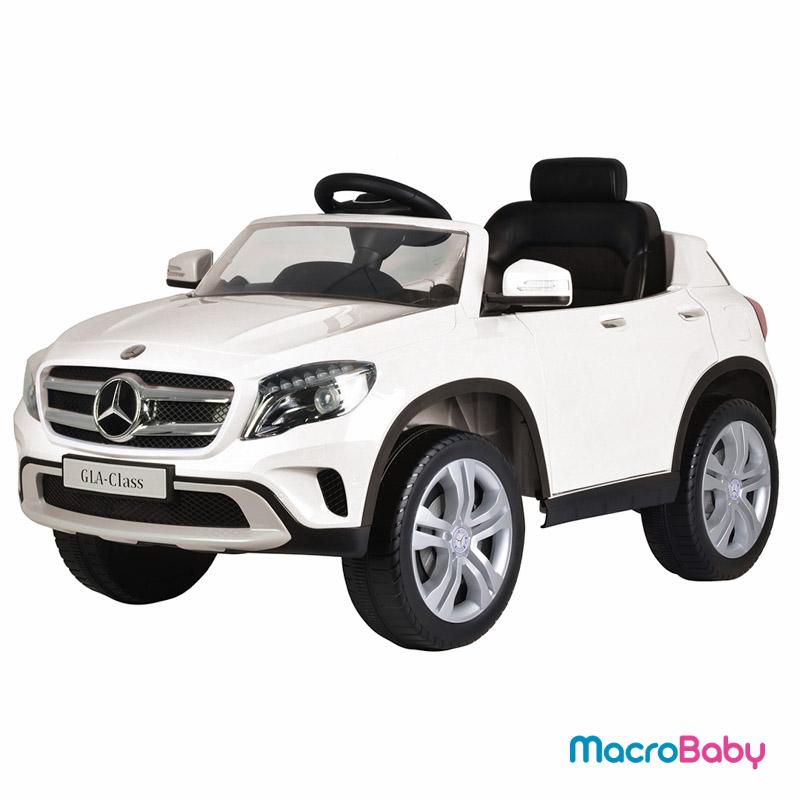 Auto a batería camioneta Mercedes Benz GLA 300 blanco Bebitos - Macrobaby