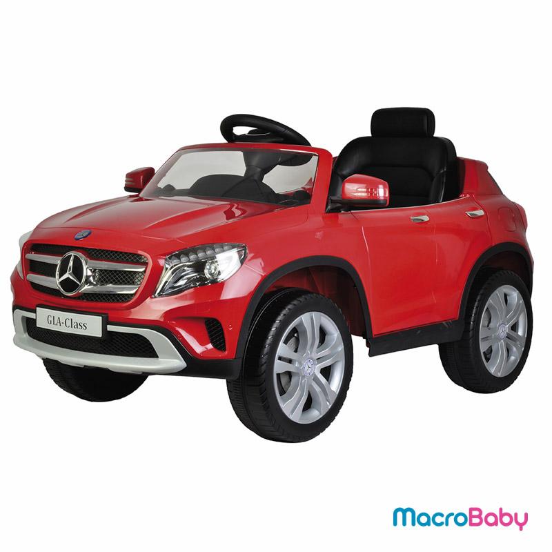 Auto a batería camioneta Mercedes Benz GLA 300 rojo Bebitos - Macrobaby