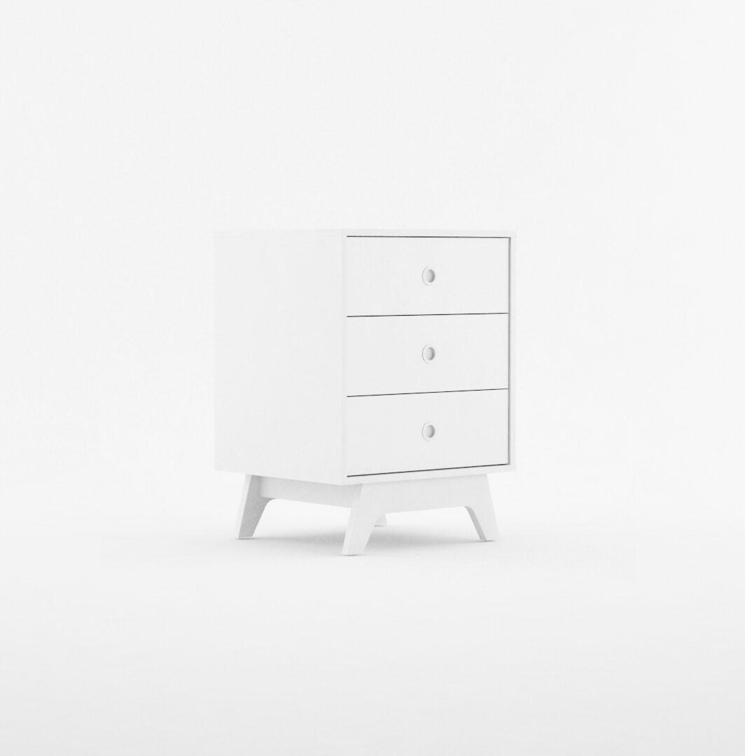 Mueble bajo 3 cajones serie Fragancia blanco La Valenziana