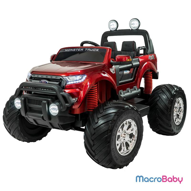 Auto a batería Ford Ranger Monster Truck Roja 4 motores