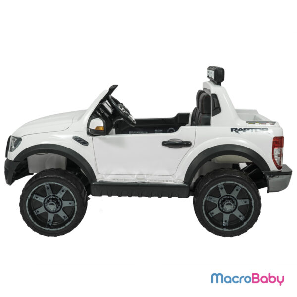 Auto a batería Camioneta Ford Raptor Blanca. Pantalla táctil