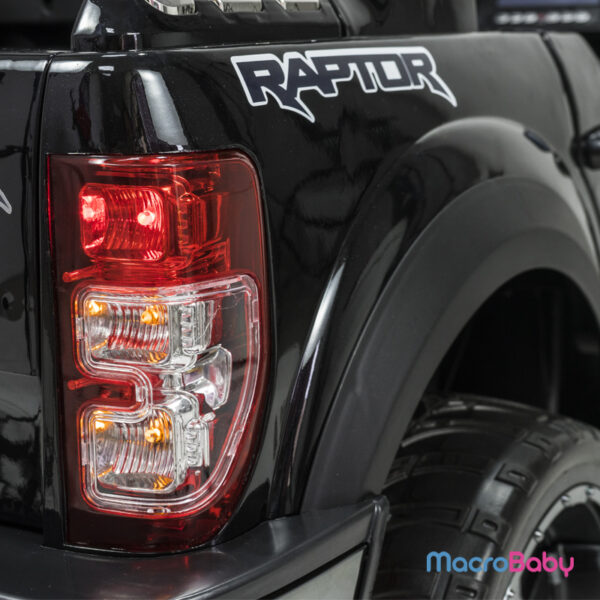 Auto a batería Camioneta Ford Raptor Negra. Pantalla táctil
