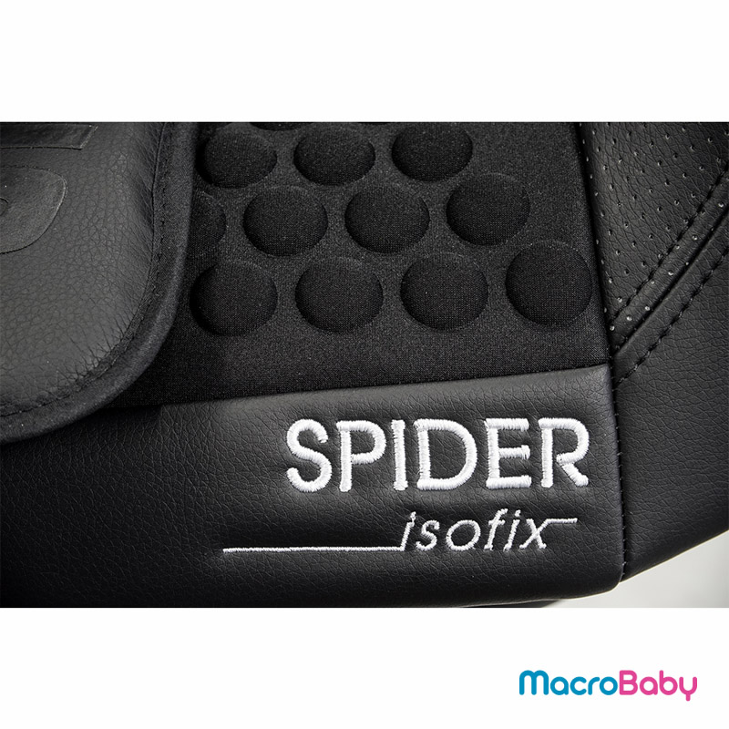Butaca de seguridad con sistema Isofix Spider De 9 a 25 kg. negra GTS - MacroBaby